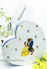 Disney Belle en het Beest hartvormige enveloppendoos