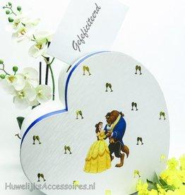 Belle en het Beest hart enveloppendoos