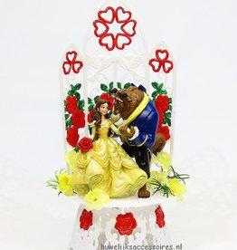 Schitterende taarttopper van Belle en het Beest