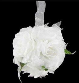 Witte pomander bal voor bruiloft.