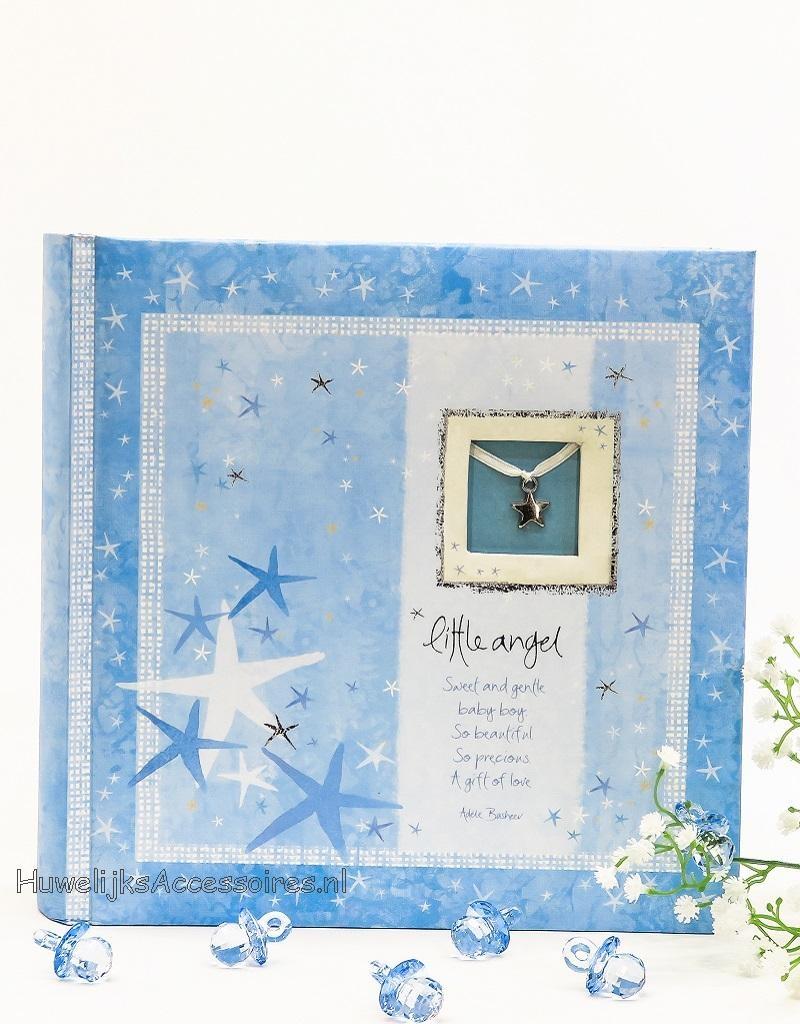 Blauwe foto album Slip in voor jongens 'Little Angel'