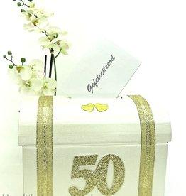 50 jaar Gouden jubileum enveloppendoos