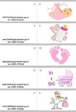 Paquito sleutelhanger geboorte bedankje met strikje