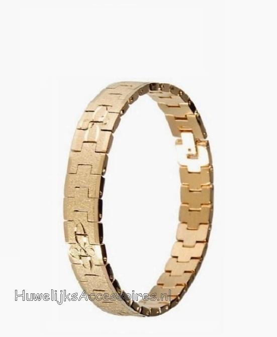 Schitterend gekleurde gouden schakel armband