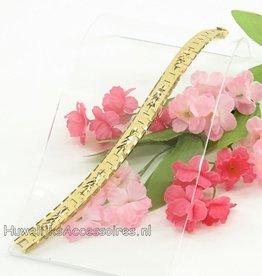 Goud gekleurde schakelarmband