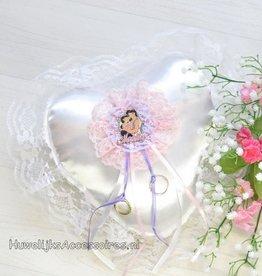 Disney Jasmine en Aladdin witte trouwring kussen