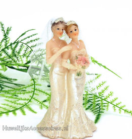 Bruidspaar vrouwen taart topper