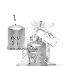 Jubileum bedankje met zilver kaarsje