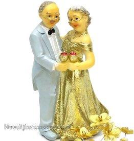 Gouden bruiloft bruidspaar