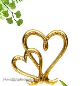 Gouden harten taart topper