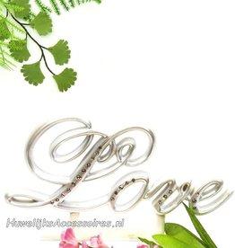 'Love' bruidstaart topper