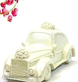 Prachtige bruidsauto taarttopper