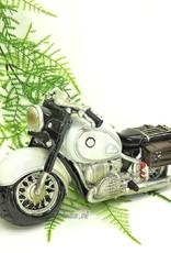 Komische zwart en wit motor taarttopper spaarpot