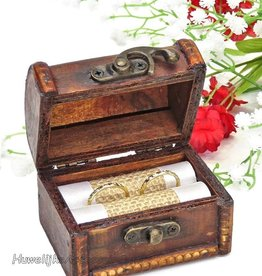Antiek look schatkist trouwringen doosje