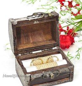 Oud look schatkist trouwring doosje