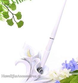 Receptie pen en houder set calla lily