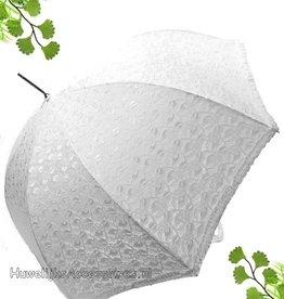 Prachtige wit kant paraplu