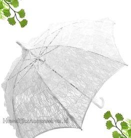 Mooi wit kant bydemeyer parasol