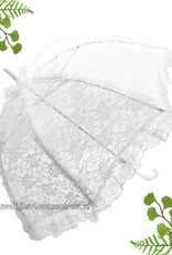 Witte kant deluxe bydemeyer parasol