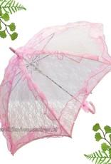 Zeer mooie deluxe roze kant bydemeyer paraplu