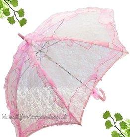 Mooi roze kant bydemeyer parasol