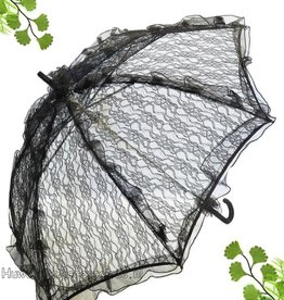 Zwarte kant bydemeyer paraplu
