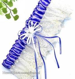 Lila en crème kousenband