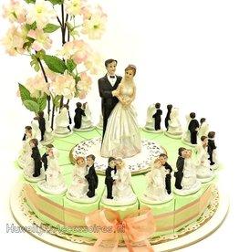 Huwelijk bedankjes taart bruidsparen