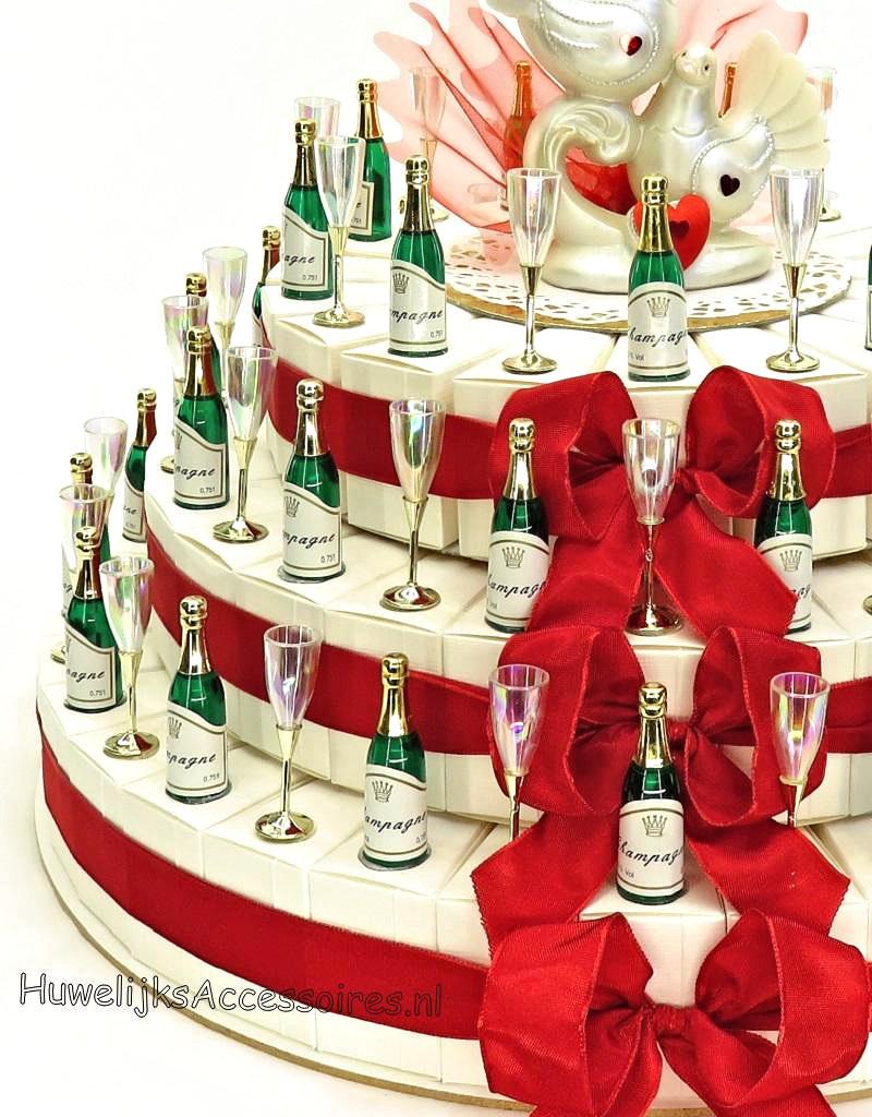 40 jaar Jubileum bedanktaart met champagne flesjes