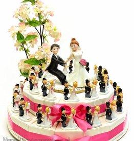 Huwelijk taart bruidsparen met ringen