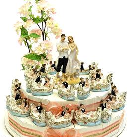 Huwelijk bedankjes taart met gondels