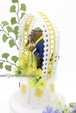 Disney Schitterende Belle en het Beest huwelijk taarttopper