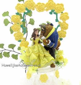 Disney Schitterende taarttopper met Belle en het Beest