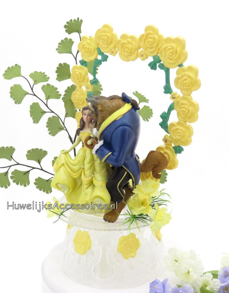 Disney Prachtige Disney Belle en het Beest bruiloft taarttopper