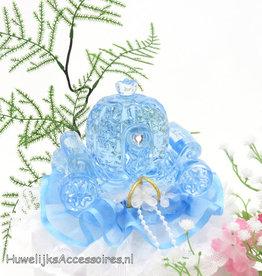 Disney Blauw kristal koets bruiloft taarttopper