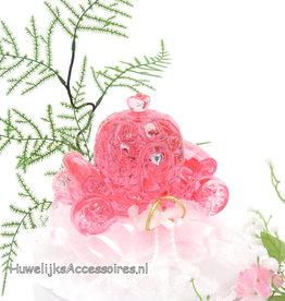 Disney Roze kristal koets bruiloft taarttopper