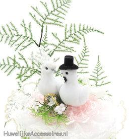 Duivenpaar bruidstaart topper