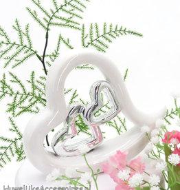 Porseleinen harten bruid taart topper