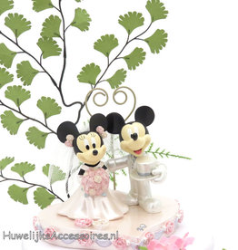 Disney Disney Mickey en Minnie bruidstaart topper