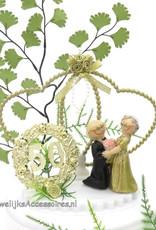 50 jaar Gouden huwelijk jubileum bruidstaart topper
