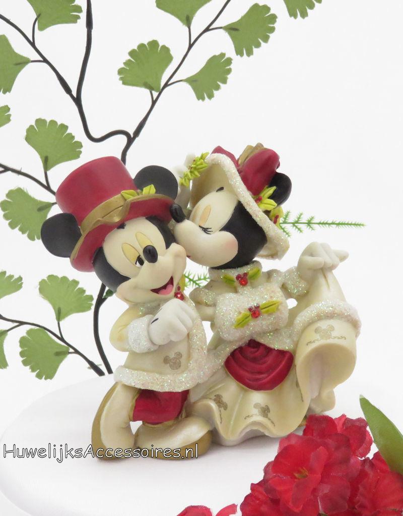 """Disney Disney Mickey en Minnie """"Mistletoe Kiss"""" bruidstaart topper"""
