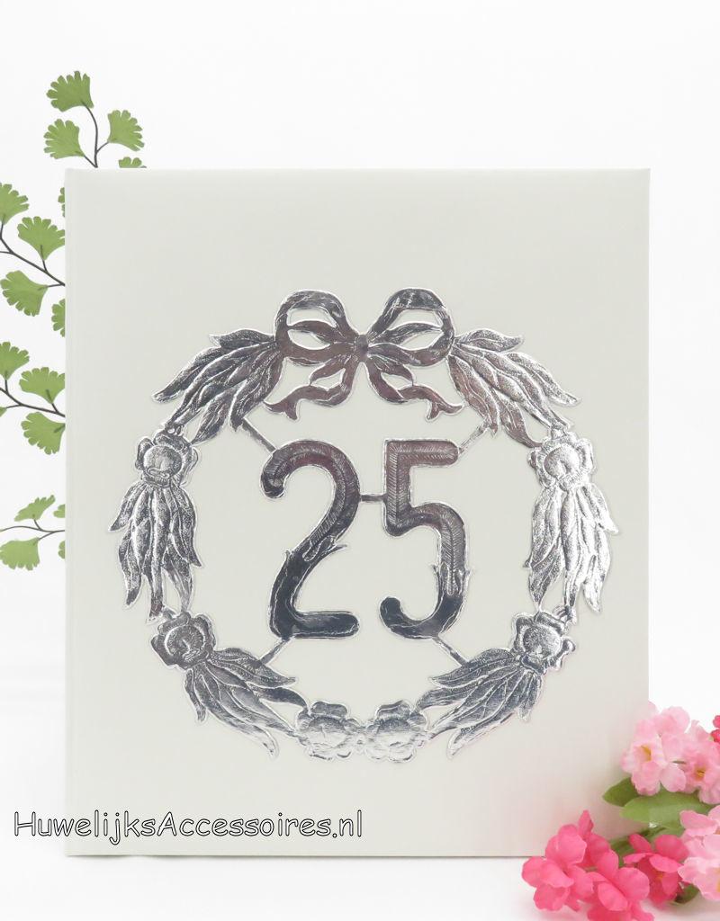Zilver jubileum bruiloft gastenboek