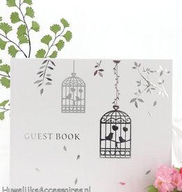 Gastenboek met 2 vogelkooien