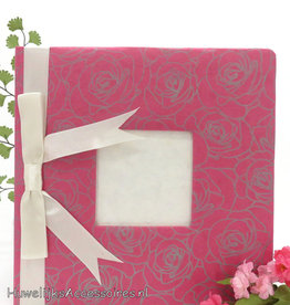 Gastenboek met rozen geprint