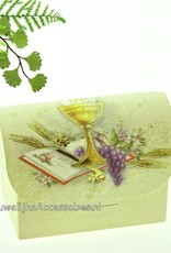 Heilige communie bedankje doosje met gouden kelk
