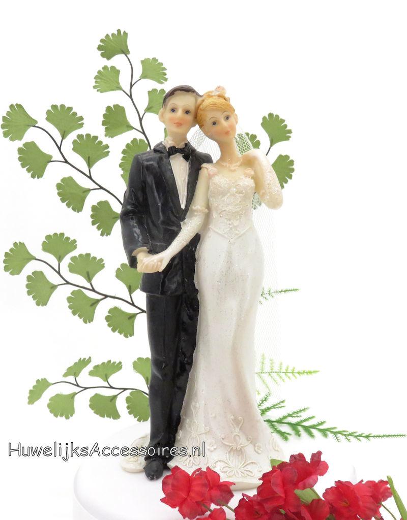 Zeer mooie charmante bruidspaar taart topper