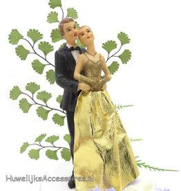 Gouden jubileum bruidspaar taarttopper