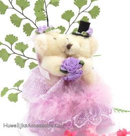 Beren bruidspaar muzikale taart topper