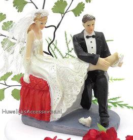Leuke bruidspaar taarttopper