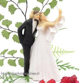 Bruidspaar 'Selfie' taarttopper